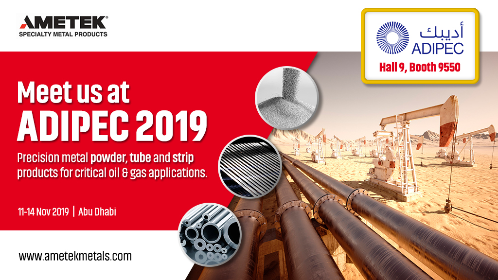 AMETEK SMP to exhibit at ADIPEC 2019